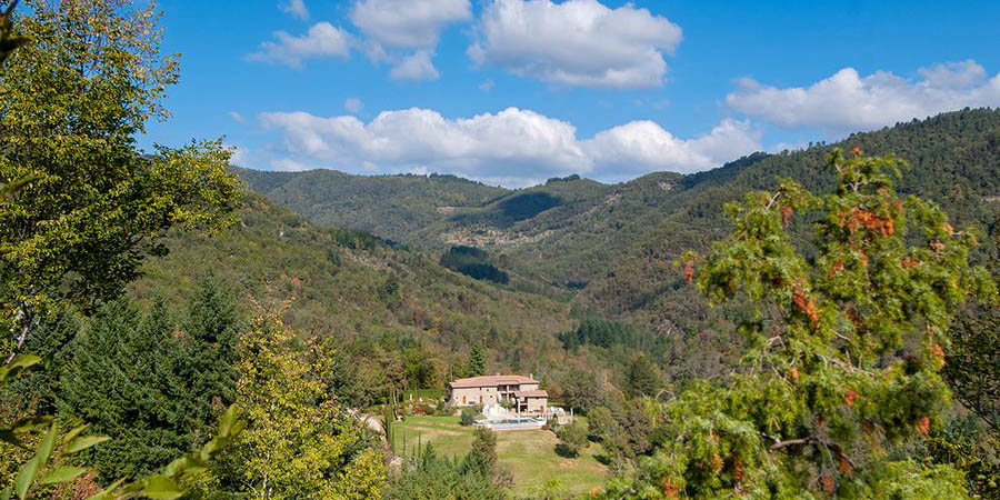 Location of Villa Striano in the Casentino Valley near Arezzo in Tuscany, Italy
